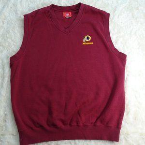 NFL Washington Redskins Maroon Vest Sweater XL
